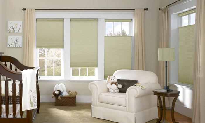 midnight 38 double cell shades - Blackout Cellular Shades
