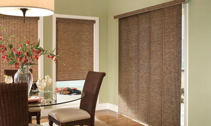 Sunset Wovens Panel Track Blinds from Comfortex Blinds