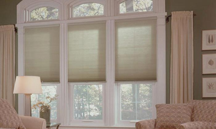 "Cordless Cellular Shades Budget Cordless 3/8"" Single Cell LF Shades"