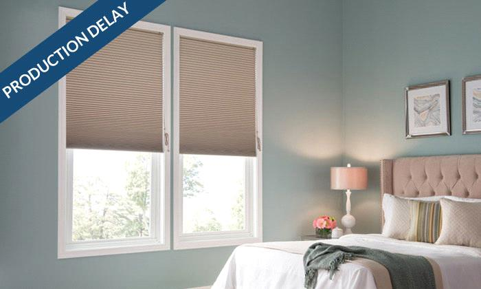 "Single Cell Room Darkening & Blackout Cellular Shades Good 3/8"" Single Cell Blackout Shades"