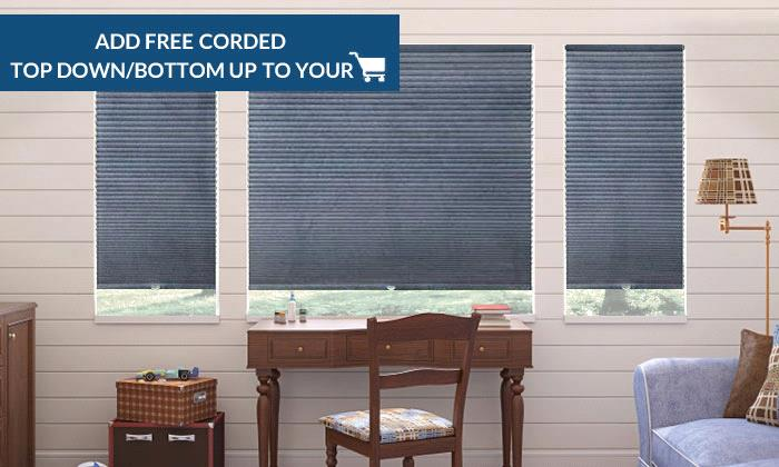 "Double Cell Light Filtering Cellular Shades Better 7/16"" Double Cell Light Filtering Shades"