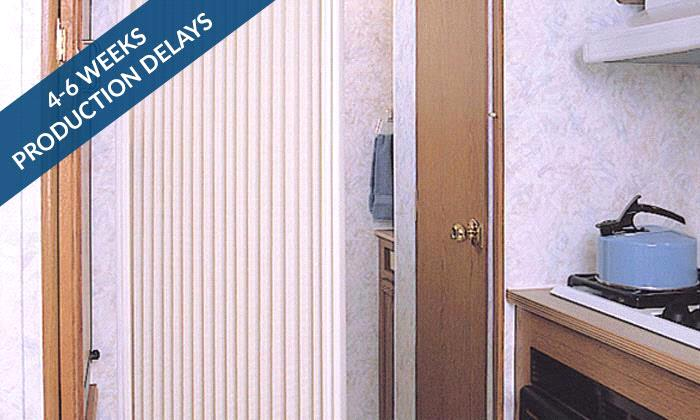 Steves Exclusive Collection Rv Shades Rv Pleated Door Shade