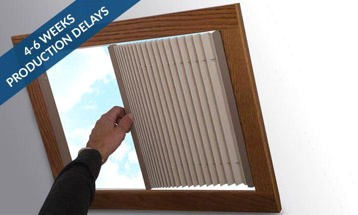 RV Pleated Shades RV Skylight Pleated Shade