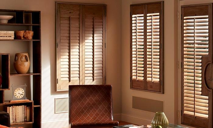 Traditional Solid Wood Shutters   Stains