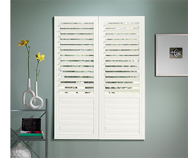 Outside mounted shutters when window does not have trim