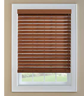 Steve's Blinds inside mounted horizontal wood blinds