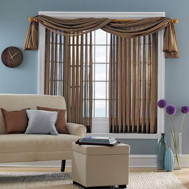 Living Room Sheer Vertical Blinds