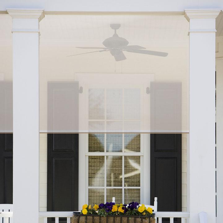 Outdoor exterior solar screen shades